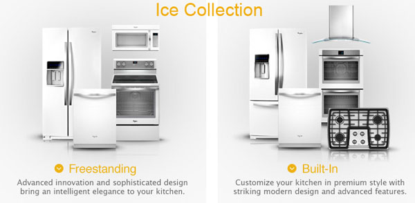 New White Appliances ~ New today whirlpool white ice collection has arrived at
